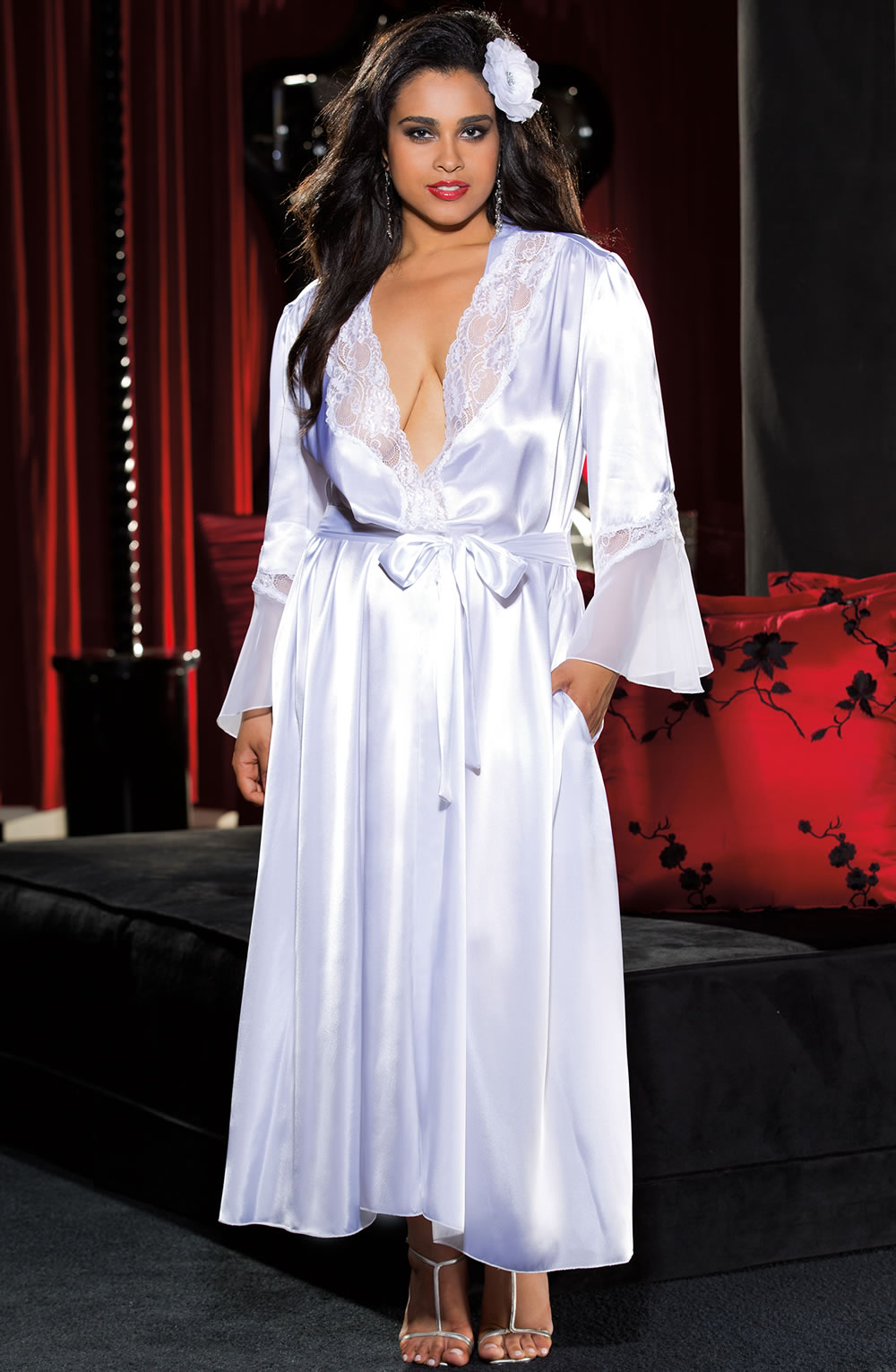 Shirley Of Hollywood Long Robe White