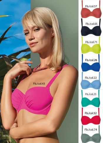 09fe46396a586 Sunfalir - Colour up your life Dark Green Bikini TOP 71107